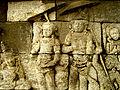 Lalitavistara - 055 S-35, The Statues worship Siddhartha, Siddhartha and the King (detail) (8599324936).jpg