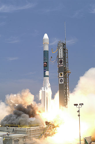 Spirit (rover) - Delta II lifting off with MER-A on June 10, 2003