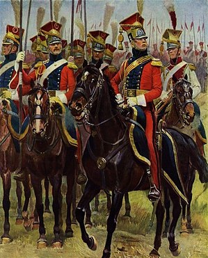 2e régiment de chevau-légers lanciers de la Garde Impériale - Red Lancers officer, trumpeter and troopers