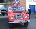 Land Rover 109 Fire Appliance (ANP 966W), GVVT open day 14 Oct 2012.jpg