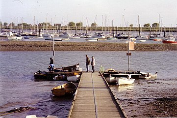 Landing stage at Brightlingsea, 1992 - geograph.org.uk - 351156.jpg