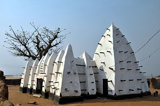 Sudano-Sahelian architecture - Larabanga Mosque, Ghana (Gur-Voltaic).
