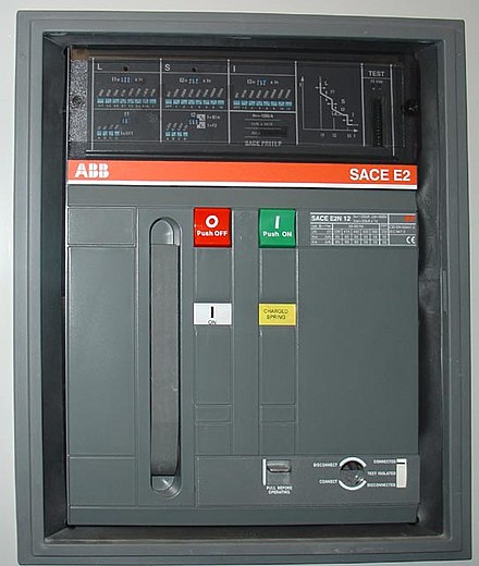 Circuit breaker wikiwand front panel of a 1250 a air circuit breaker manufactured by abb this low voltage sciox Choice Image