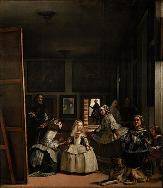 Charles II of Spain - Diego Velázquez' 1656 painting Las Meninas showing the Spanish royal court of the time