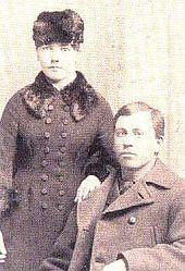 Laura et Almanzo en 1885, à Walnut Grove.