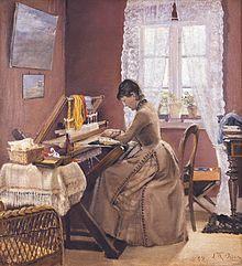 Johanne Wilde at Her Loom
