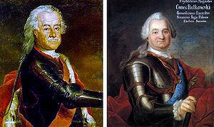 Battle of Kesselsdorf - Image: Leopold von Dessau & Feldmarschall Rutowsky