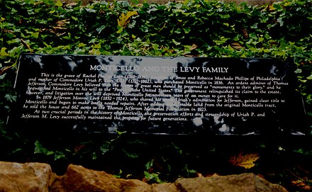 Levy's mother's grave Levy-Monticello.jpg