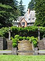 Lewis & Clark College, Frank Manor House, View from Reflecting Pool.JPG