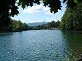Liberec - Vodní nádrž Harcov - View WSW towards Ještěd.jpg