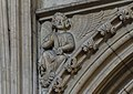 Lincoln Cathedral, Angel with scroll (32113257122).jpg