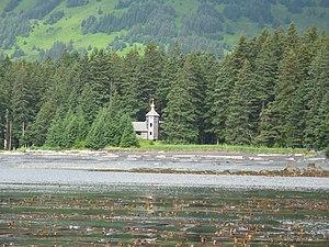 Spruce Island (Alaska) - Russian Orthodox Church monastery at Monk's Lagoon on Icon Bay, Spruce Island