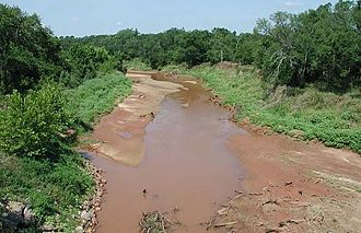 Green Corn Rebellion - The Little River, near Sasakwa, Oklahoma, the site of an ambush of a Seminole County sheriff and deputy.