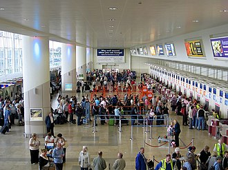 Liverpool John Lennon Airport - The check-in hall