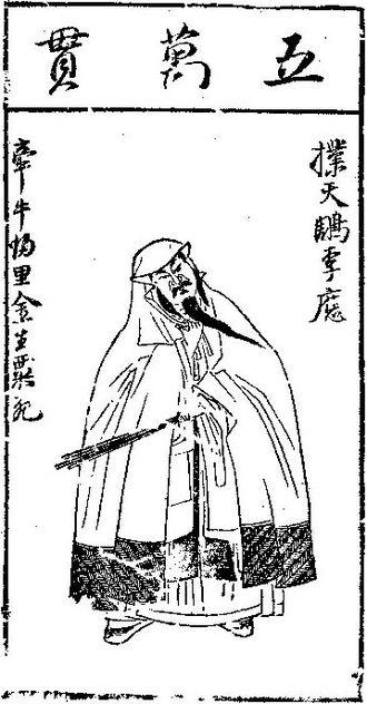 Li Ying (Water Margin) - An illustration of Li Ying by Chen Hongshou.