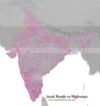 Local Roads vs Highways of India in OSM.png