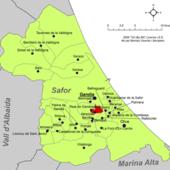 Localització d'Almoines respecte de la Safor.png