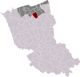 Coudekerque-Village - Location of Coudekerque-Village in the arrondissement of Dunkirk