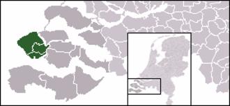 Walcheren - Image: Locatie Walcheren