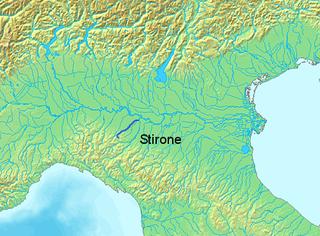 Stirone river in Italy