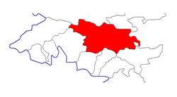 Location of Toktogul District in Jalal-Abad Province, Kyrgyzstan.png