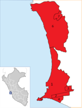 Location of the province Callao in Peru.png
