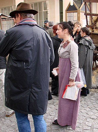Sally Hawkins - Hawkins in Bath during location shooting for Persuasion in 2006