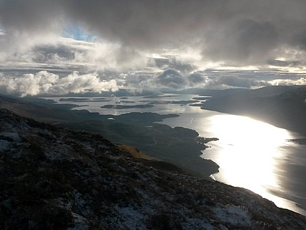 Loch Lomond, viewed from the slopes of Ben Lomond.