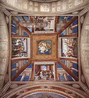 Vatican loggias - A section of ceiling with scenes from the life of David