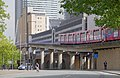 London MMB »0R9 A1261 West India Dock Road and Docklands Light Railway.jpg