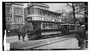 London County Council Tramways - London Tram Car