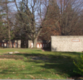 Long distance shot of the Aultsville wall of the pioneer memorial near Upper Canada Village.png