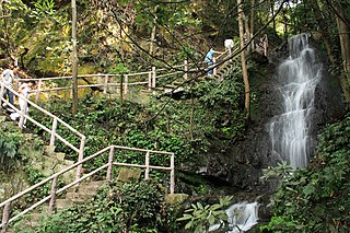Waterfall near Longjing Tea Village
