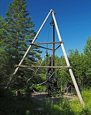 Boart Longyear - Replica of E.J. Longyear's exploration diamond drilling rig on the Mesabi Range