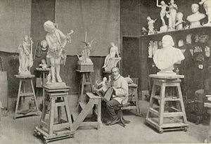 Louis-Ernest Barrias - Louis-Ernest Barrias in his Paris studio
