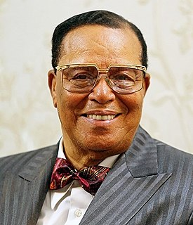 Louis Farrakhan Leader of the religious group Nation of Islam