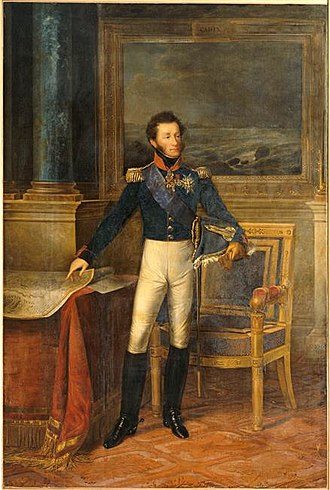 Louis Antoine, Duke of Angoulême - Portrait by François Kinson, 1825