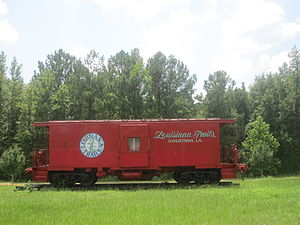 Goldonna, Louisiana - Louisiana Trails railroad car in Goldonna
