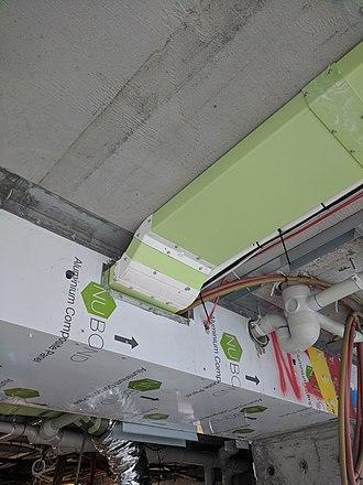 Duct (flow) - Low profile PVC ducting