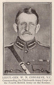 Sepia portrait image of middle aged man in British General Staff uniform. Sambrown visible as are General Staff collar tabs. Image contains an identifying description at the base