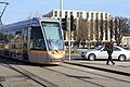 Luas Tram at Hueston Railway Station, DUBLIN - panoramio.jpg