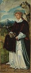 Pfirtscher Altar: Hl. Stephanus (Rückseite: Rankenornament) (Anonymer Meister seiner Werkstatt)