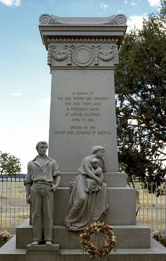 Ludlow Massacre - Ludlow Monument was erected by the United Mine Workers of America.