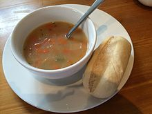 Lunch at Inveraray Castle - Scotch broth (14342541740).jpg