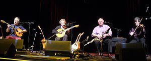 Planxty - Dónal Lunny, Andy Irvine, Liam O'Flynn and Paddy Glackin as 'LAPD', March 2012.