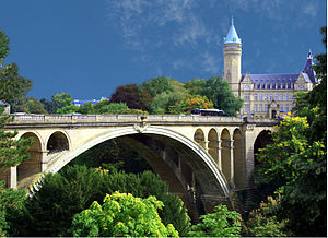Architecture of Luxembourg - Adolphe Bridge designed by Paul Séjourné (1902)