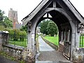 Lych Gate, Dunster Parish Church - geograph.org.uk - 1702764.jpg