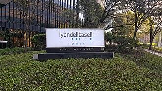 LyondellBasell - LyondellBasell Tower (formerly One Houston Center) houses the Houston offices of LyondellBasell.