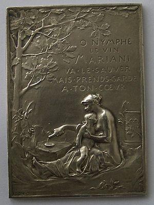 Vin Mariani - Image: Médaille Coca Mariani avers O.Roty