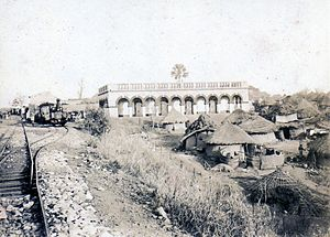 Médine, Mali - The Médine train station along the Dakar-Niger Railway, c. 1895